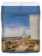 A Different View Goat Island  Duvet Cover