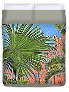 A Don Cesar Palm Frond Duvet Cover