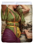 A Fair Reflection, 19th Century Duvet Cover