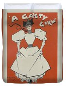 A Gaiety Girl, 1894 French Vintage Poster Duvet Cover