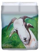 A Goat To Love Duvet Cover
