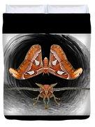 A Is For Atlas Moth Duvet Cover