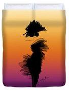 A Little Black Dress In The Sunset Duvet Cover