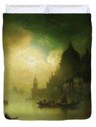 A Moonlit Night Over Venice Duvet Cover