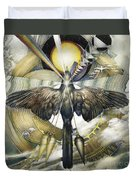 A Painting Alludes To Powers That Might Enable Birds To Migrate. Duvet Cover