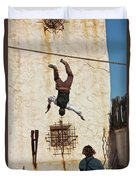 A Pair Of Stuntmen Perform At Old Tucson Duvet Cover