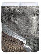 A Portrait Of Immanuel Or Emmanuel Kant Duvet Cover