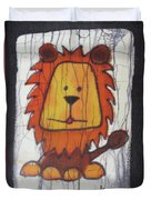 A Red Lion.  Duvet Cover