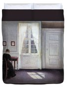 A Room In The Artist's Home In Strandgade, Copenhagen, With The Artist's Wife - Digital Remastered Duvet Cover
