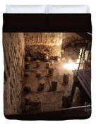 A Room Inside Masada Duvet Cover