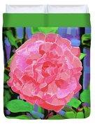 A Rose With Heart Duvet Cover by Deborah Boyd