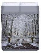 A Snowy Scene Duvet Cover