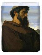 A Thinker A Young Roman Monk Duvet Cover