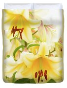 A Tower Of Lilies Duvet Cover