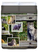 A Variety Of Cats Duvet Cover