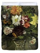 A Vase Of Flowers, 1833 Duvet Cover