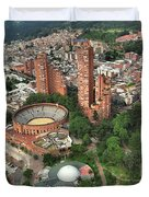 A View Of Downtown Bogota Duvet Cover