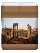 A View Of The Forum Romanum Duvet Cover