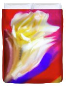 A White Rose In An Abstract Style. Duvet Cover
