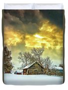 A Winter Eve Duvet Cover