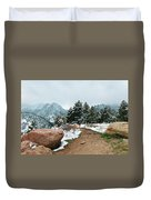 A Winter's Day In The Flatirons Duvet Cover