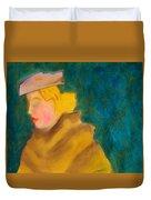 A Woman In A Fur Duvet Cover