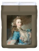 A Young Lady With A Parrot Duvet Cover