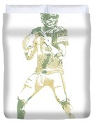 Aaron Rodgers Green Bay Packers Water Color Pixel Art 10 Duvet Cover