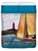 Abaco Rage On The Mark Duvet Cover