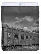 Abandoned Railroad Car In Rural New Brunswick Duvet Cover