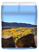 Gorgeous View Of Golden Cottonwood Trees In Canyon Duvet Cover