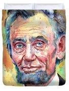 Abraham Lincoln Portrait Duvet Cover