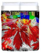 Abstract Fall Acer Stained Glass  Duvet Cover