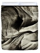 Abstract In Sandstone Slots Duvet Cover