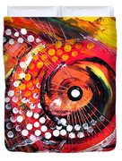 Abstract Lion Fish Duvet Cover