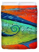 Abstract Mahi Mahi Duvet Cover