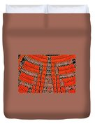 Abstract Oranges Blacks Browns Yellows Rows Columns Angles 3152019 5476 Duvet Cover