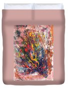 Abstract Peacock Duvet Cover by Asha Sudhaker Shenoy
