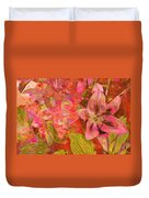 Abstract Pink Lilies Duvet Cover