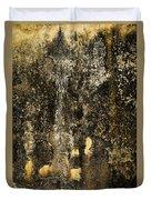 Abstract Scary Ocher Plaster Duvet Cover