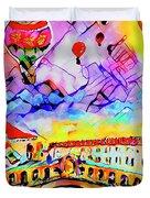 Abstract Venice Rialto Bridge Balloons Duvet Cover