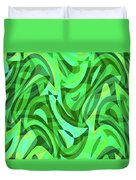 Abstract Waves Painting 0010075 Duvet Cover