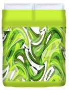 Abstract Waves Painting 0010081 Duvet Cover