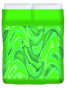 Abstract Waves Painting 0010082 Duvet Cover