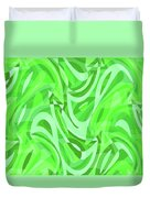 Abstract Waves Painting 0010086 Duvet Cover