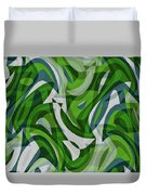 Abstract Waves Painting 0010087 Duvet Cover