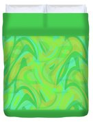Abstract Waves Painting 0010089 Duvet Cover