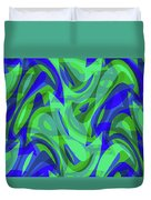 Abstract Waves Painting 0010094 Duvet Cover