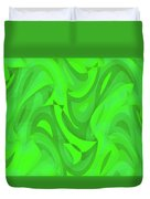 Abstract Waves Painting 0010101 Duvet Cover