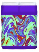 Abstract Waves Painting 0010102 Duvet Cover